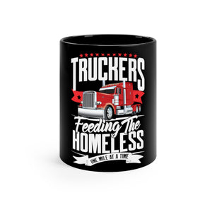 Truckers Feeding The Homeless Smooth Black mug 11oz