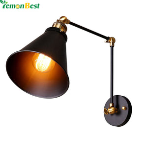 Louis Poulsen Sconce Wall Light E27 Plated Loft Iron Retro Industrial Bathroom Stair Antique Vintage Wall Lamp Luminaria