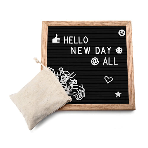 Message Board Wooden Felt Schedule Modern Detachable Adjustable 340 Letters Creative Gift For Family And Friends