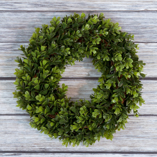 Pure Garden Boxwood Wreath - 12 inch Round