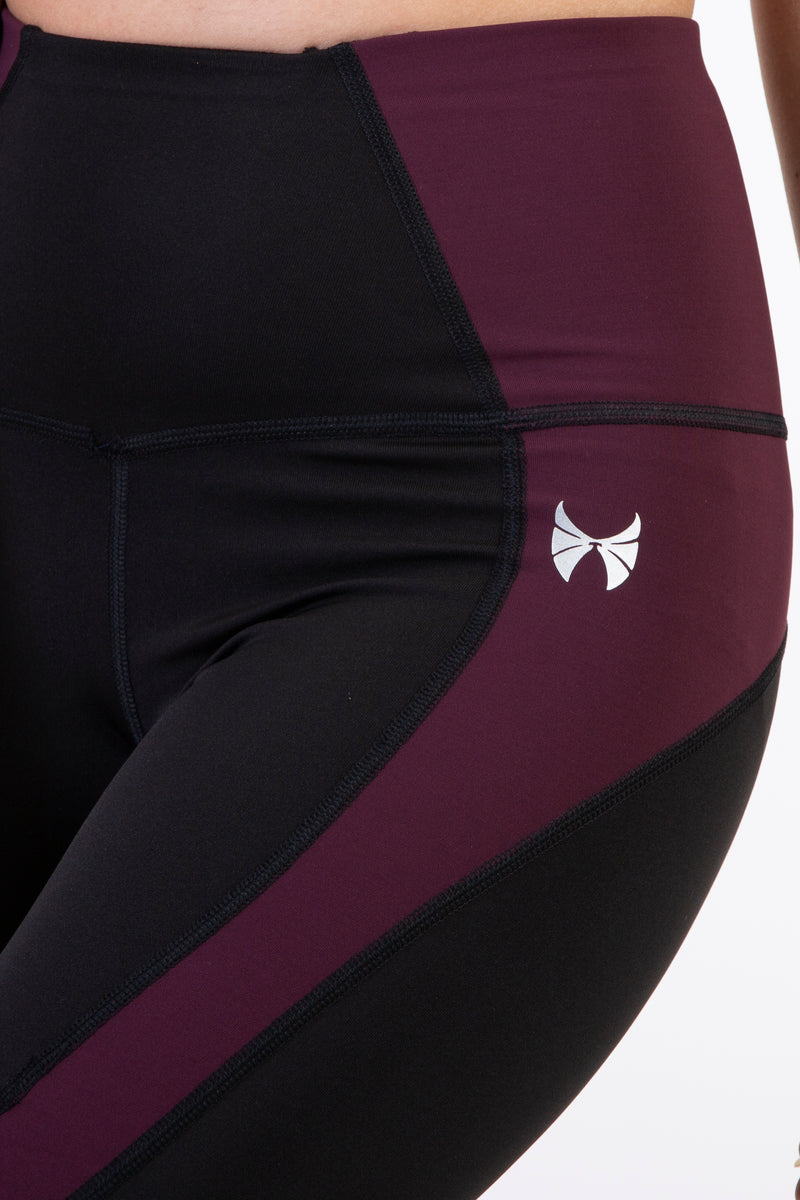 Skyria Viola Leggings- Merlot Wine