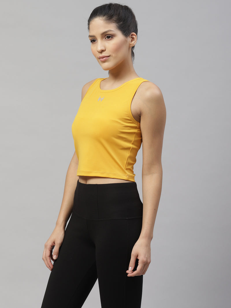 Skyria Kea Crop - Tuscan Yellow