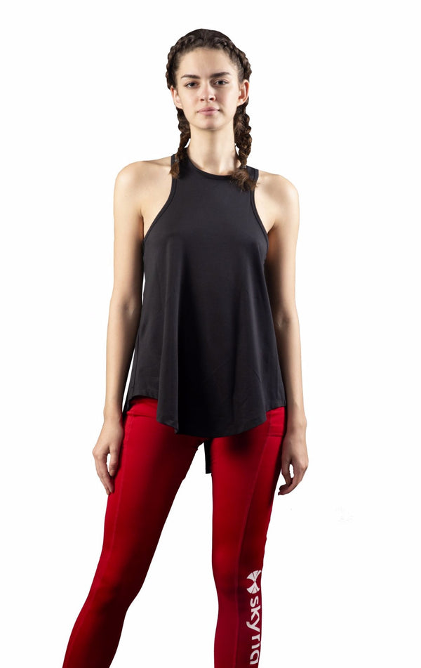 Skyria Bliss Tank Top - Ebony Black
