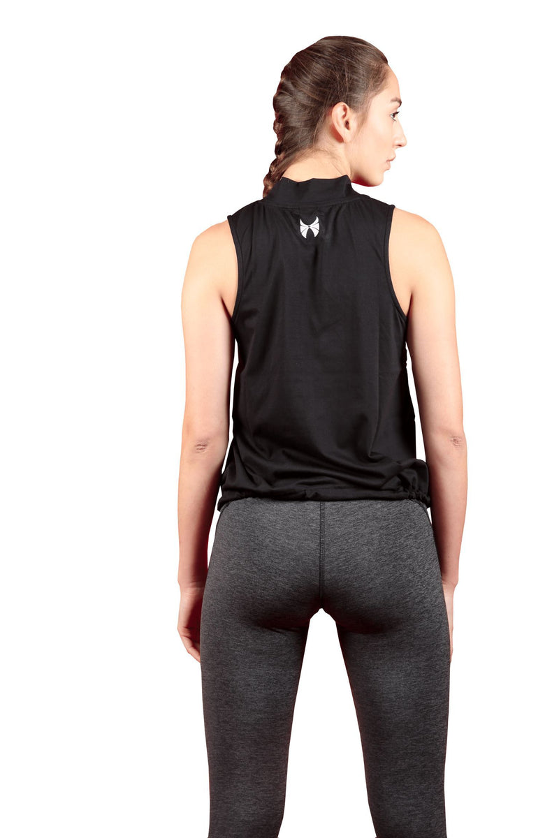 Black Slim Fit Top for Workout