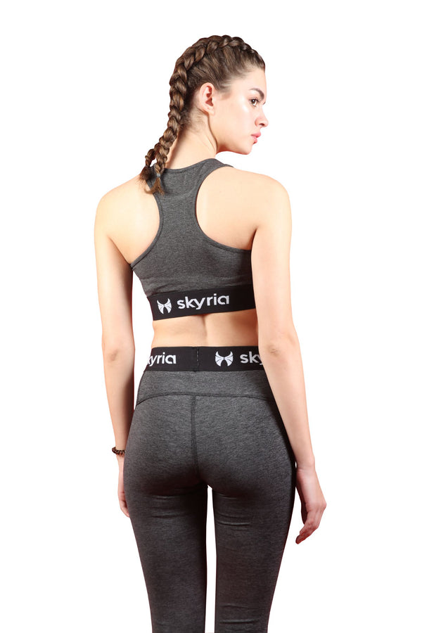 Skyria Mia Sports Bra - Graphite