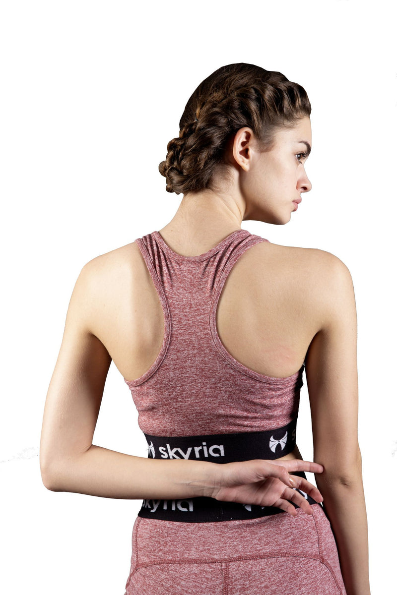 Skyria Mia Sports Bra - Red Melange