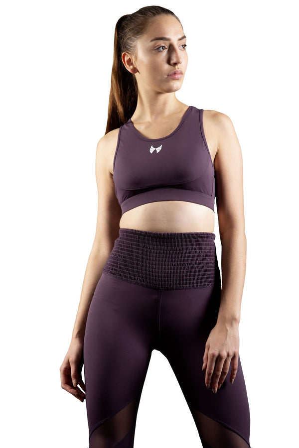 Skyria Naomi Mesh Sports Bra - Grape