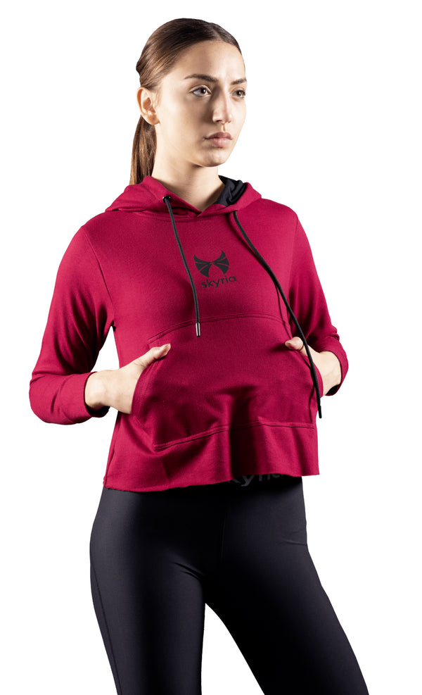 ladies hoodie top for gym