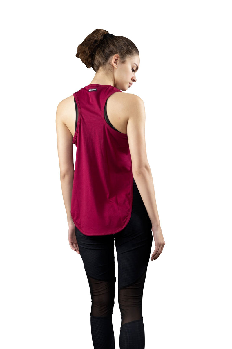 Skyria Victress Longline Top - Deep Plum