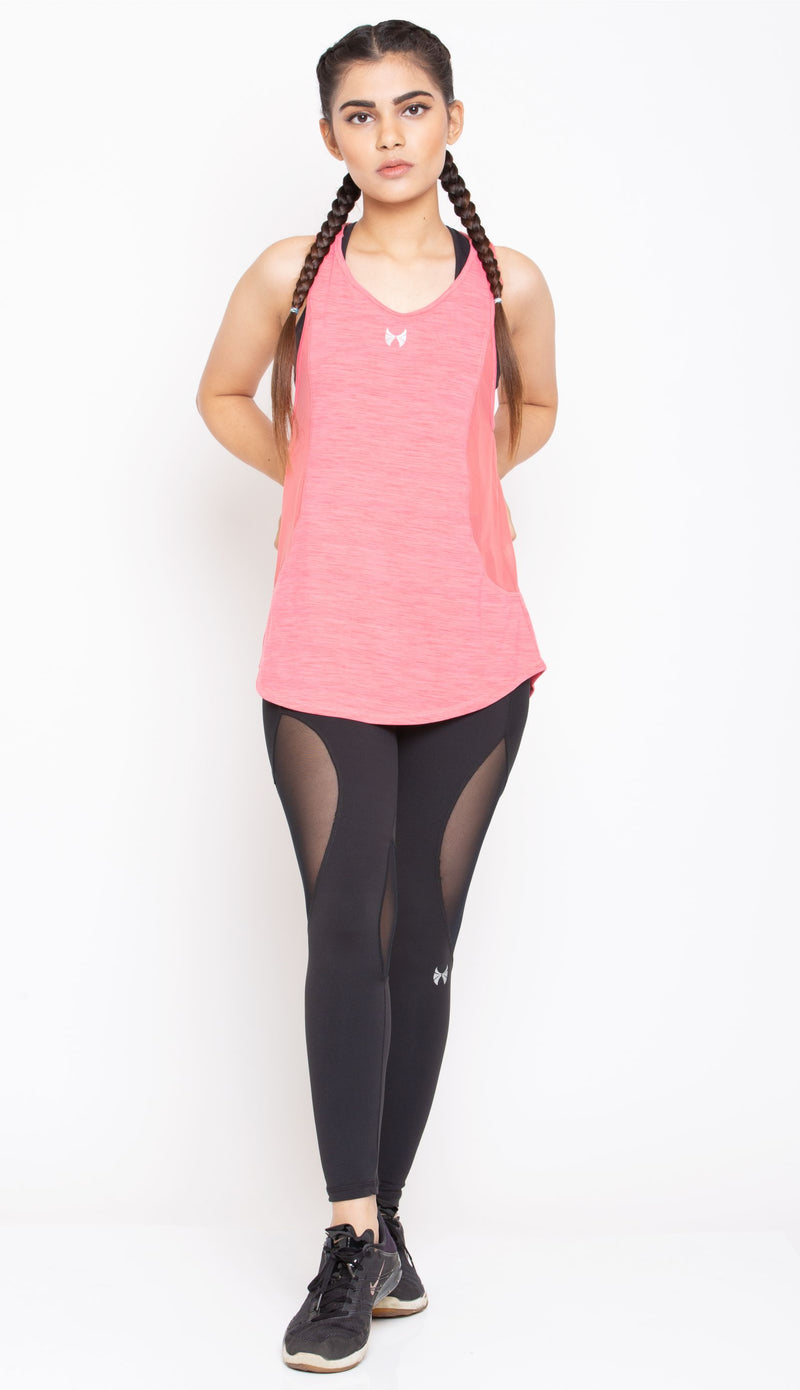 Skyria Arch Tank Top - Salmon Pink