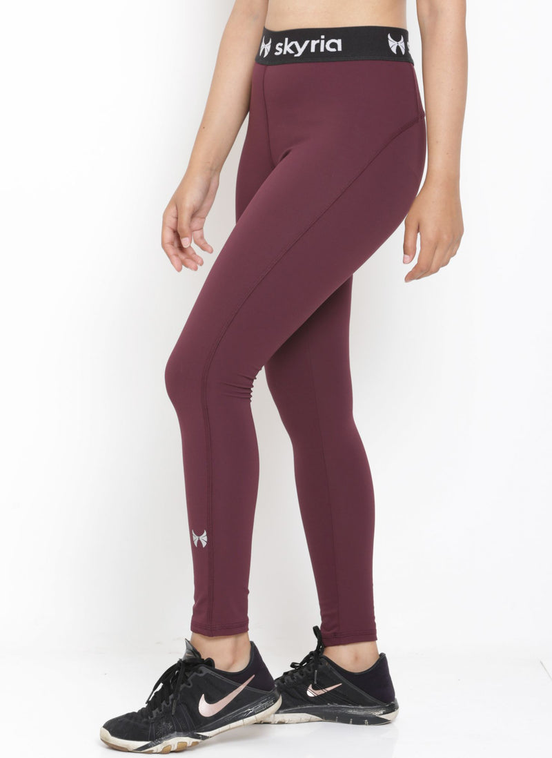 Skyria Mia Leggings - Merlot Wine
