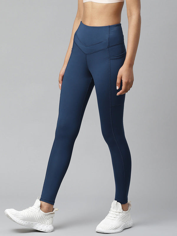 Skyria Verve High Waist Tights - Navy Teal
