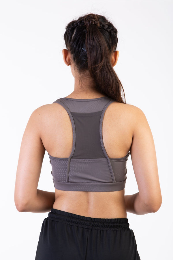 Skyria Asa Sports Bra- Panzer Grey