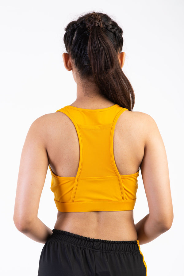 Skyria Asa Sports Bra- Tuscan Yellow