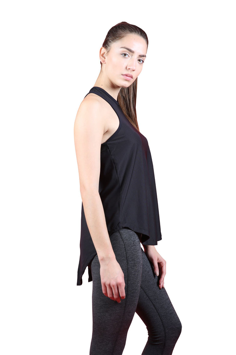 Skyria Bliss Tank Top - Black Mesh