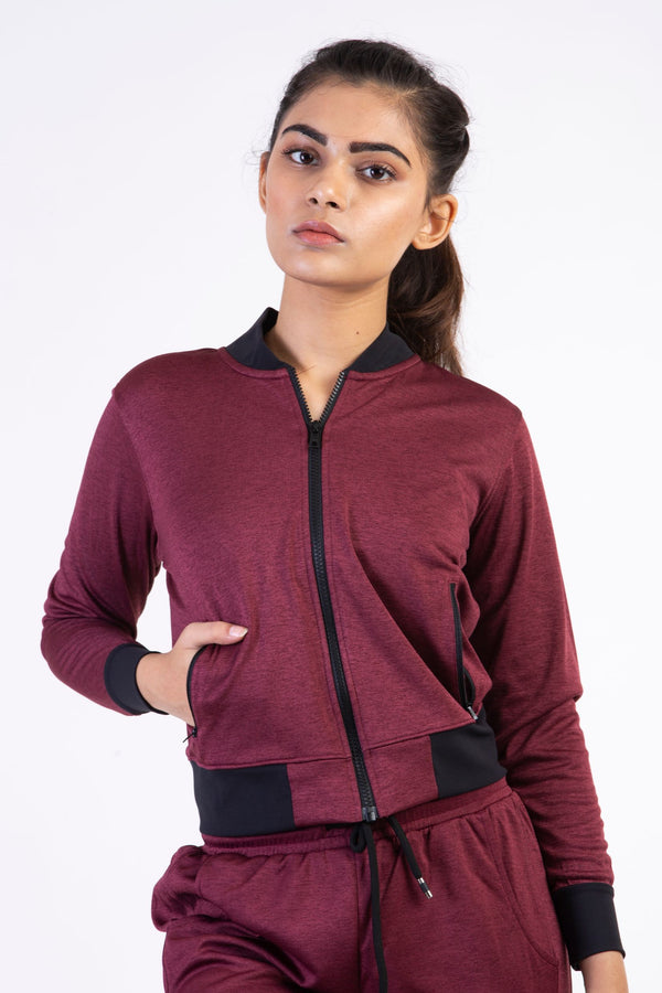 Skyria Cosmo Bomber Jacket- Rosewood