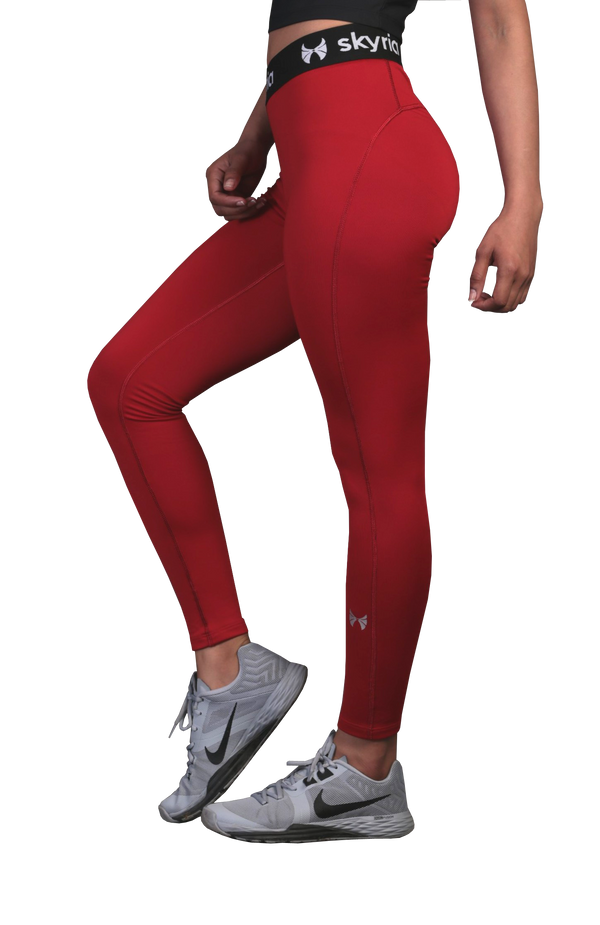 Skyria Mia Legging - Ruby Red