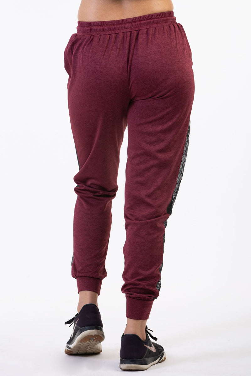 ladies red track pants for workout