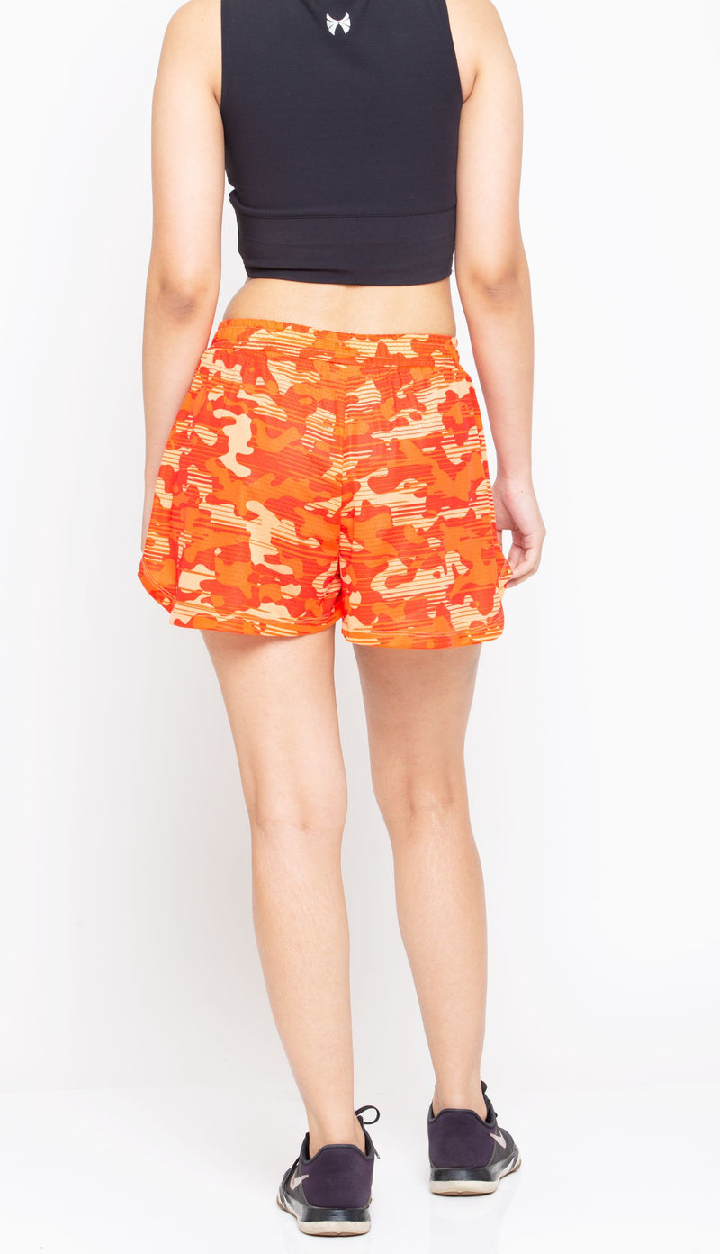 Skyria Vita Shorts - Camo Orange