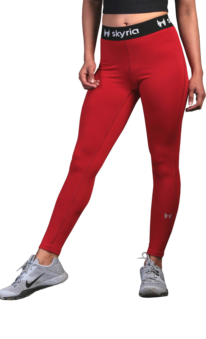 red gym wear for women