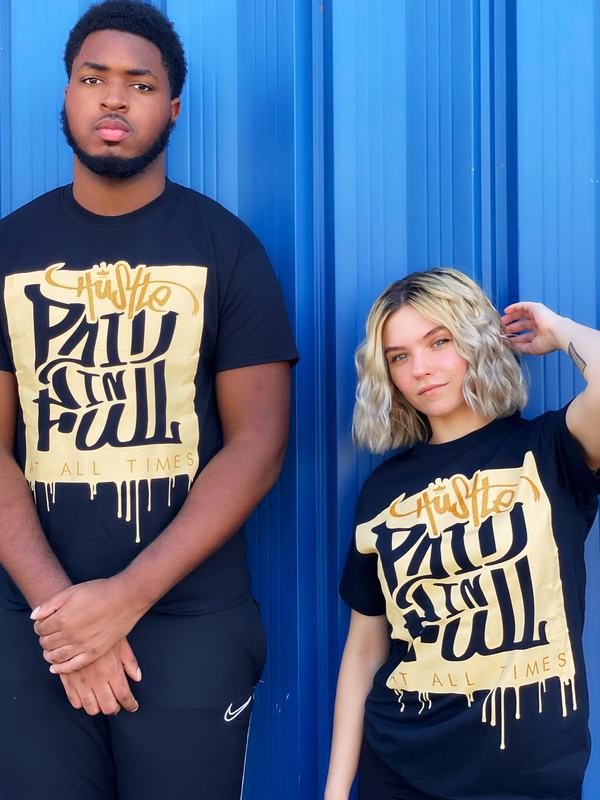 """Paid In Full"" Glitter Tee"