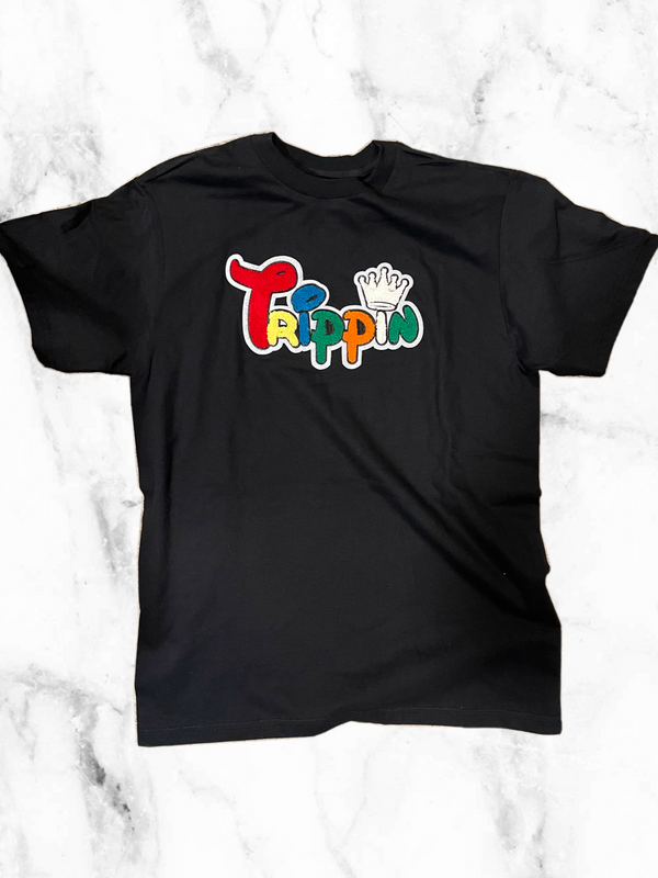 Trippin Chenille Patch Tee