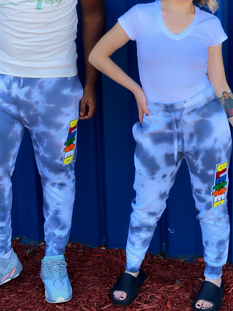 BLESSED CHENILLE UNISEX TIE DYE JOGGERS