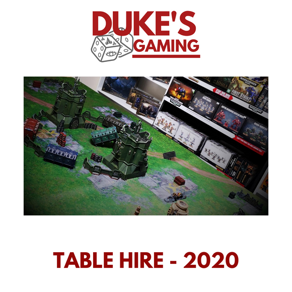 12. Table Hire for 2 Players - Coming Soon in 2021!