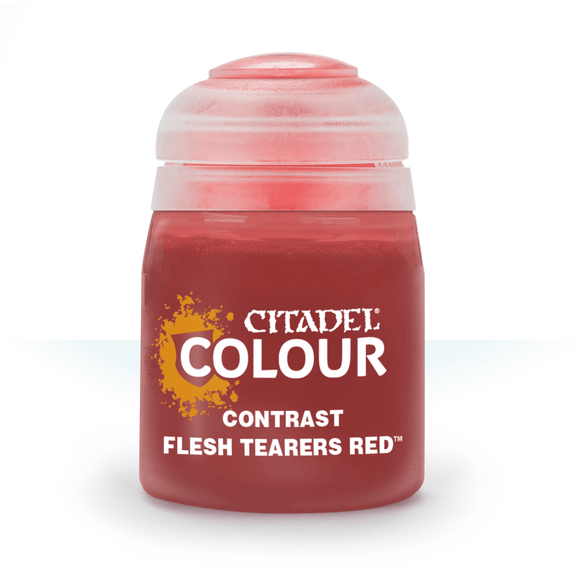 CITADEL PAINTS: CONTRAST: FLESH TEARERS RED (18ML)