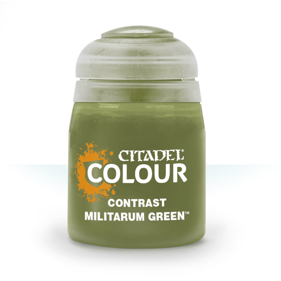CITADEL PAINTS: CONTRAST: MILITARUM GREEN (18ML)