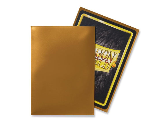 Dragon Shield 100 Standard Size Sleeves - Gold