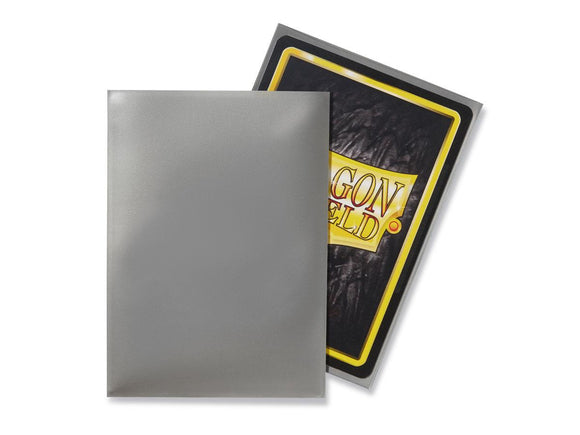 Dragon Shield 100 Standard Size Sleeves - Silver