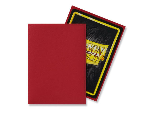 Dragon Shield 100 Standard Size Sleeves - Red Matte