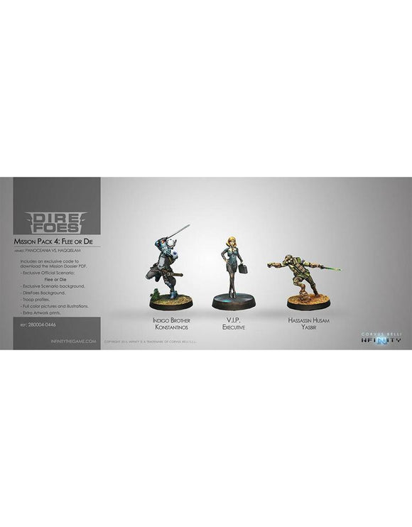 Dire Foes Mission Pack 4: Flee or Die (Hassassin VS Military Order) Yasbir, Konstantinos, VIP Executive