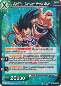 Dragon Ball Super Card Game: BT12-058 - Raditz, Invader From Afar
