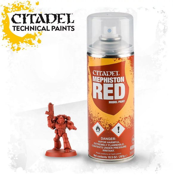 CITADEL: SPRAY PAINT: MEPHISTON RED SPRAY