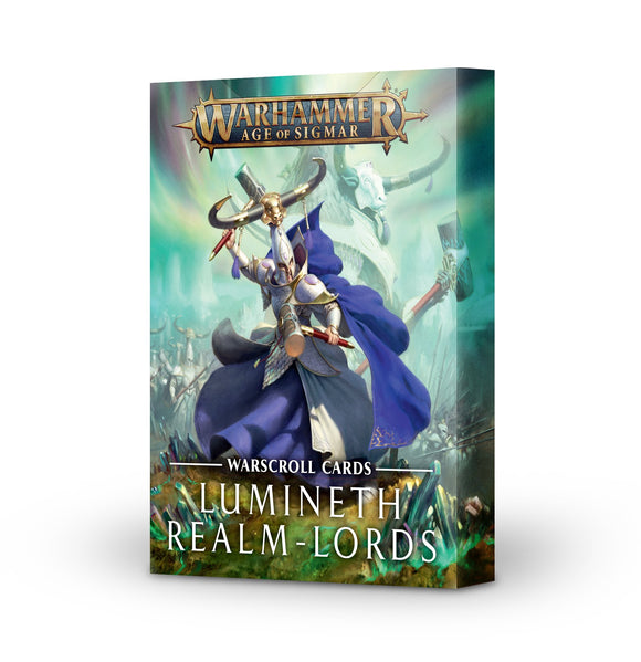 AGE OF SIGMAR: WARSCROLL CARDS LUMINETH REALM-LORDS