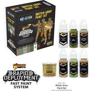 Rapid Deployment Fast Paint System - British Army Paint Set