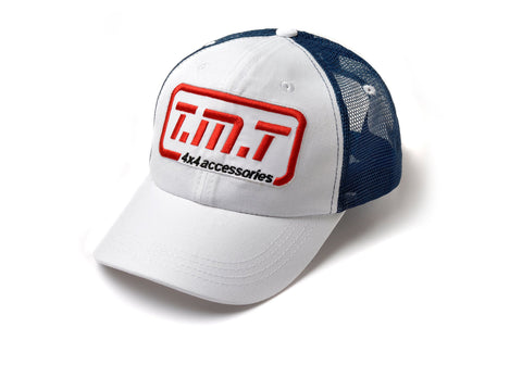 TMT CAP WHITE & BLUE