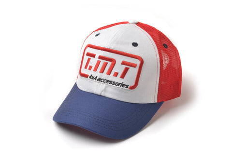 TMT CAP  BLUE / WHITE & RED