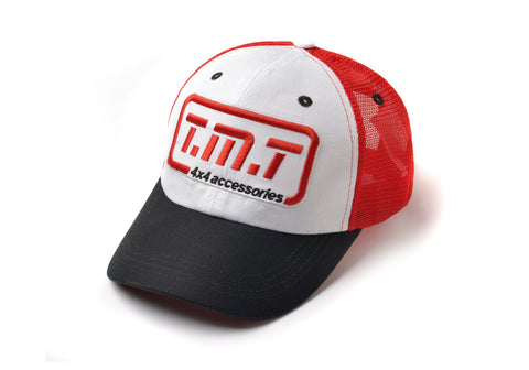 TMT CAP BLACK / WHITE & RED