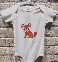 Load image into Gallery viewer, Cute Fox Organic Bodysuit