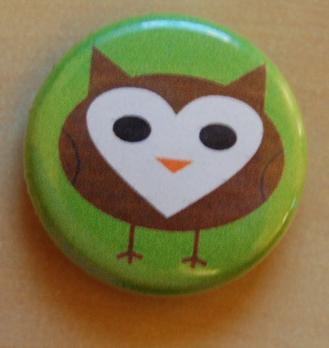 One Inch Cute Owl button