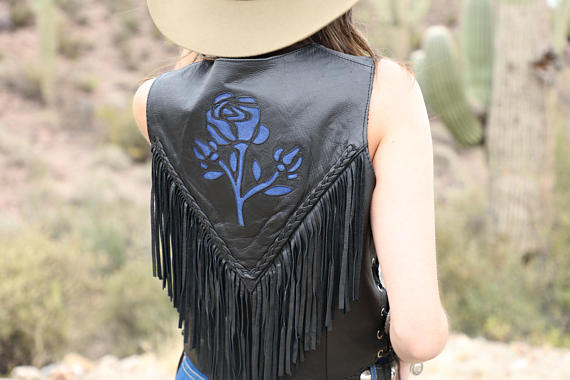 Vintage Deadstock Unik Leather Fringe Vest