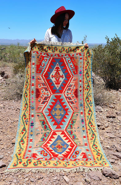 Handwoven Turkish Kilim Rug