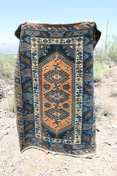 Vintage Turkish Hand-Knotted Rug