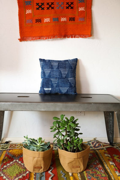 Small Indigo Pillow