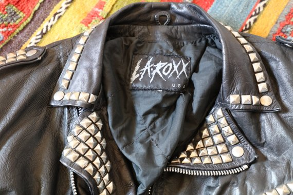 RARE Vintage L.A. Roxx Studded Leather Jacket