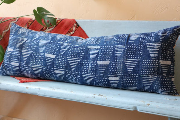 Indigo Extra Long Lumbar Pillow