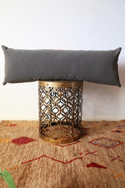 Rust Copper Mudcloth Long Lumbar Pillow
